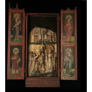 Panel - The Annunciation with Trinity