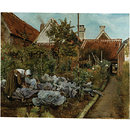 A Flemish Kitchen Garden: La Coupeuse de Choux (Oil painting)