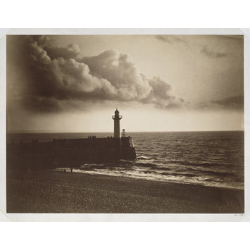 Photograph - Lighthouse and Jetty, Le Havre