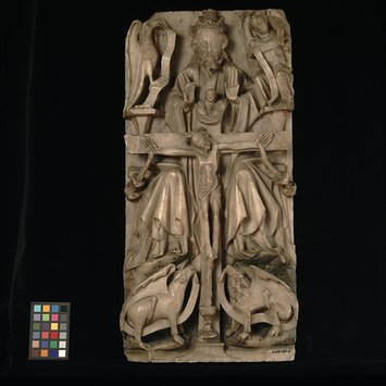 Panel - Trinity with symbols of the four Evangelists