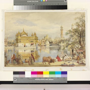Painting - The Golden Temple at Amritsar
