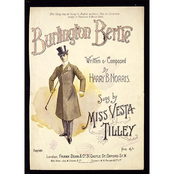 Sheet music - Burlington Bertie