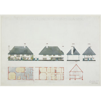 Architectural drawing - House for S. C. Turner Esquire at Frinton-on-Sea