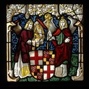 Arms of Hugo von Hohenlandenberg as Bishop of Constance with angel supporters (Panel)