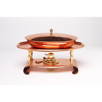 Chafing dish, cover and stand