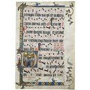 Leaf from an Antiphoner from the Franciscan Convent of St Klara, Cologne (Illuminated manuscript)