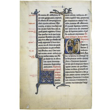 Manuscript cutting - Glazier-Rylands Bible