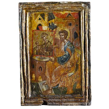 Icon - St Luke painting the Virgin