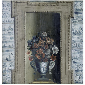 Chimney board - Vase with Flowers (chimney board)