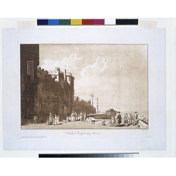 Aquatint - Windsor Terrass [sic] looking Westward