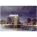 Snow scene: the haunted house (Oil painting)