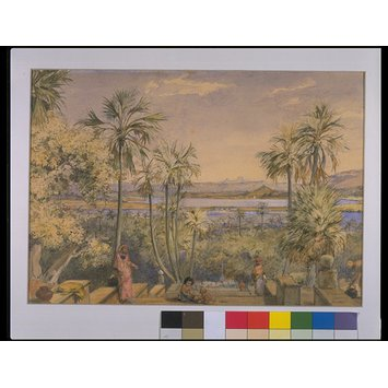 Painting - View eastwards from the steps behind Mount Mary Church, Bandra, Bombay