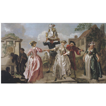 Oil painting - The Milkmaid's Garland, or Humours of May Day