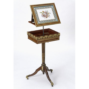 Combined music-stand and writing-table