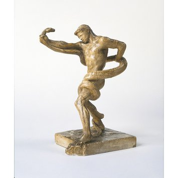 Statuette - Athlete struggling with a Python