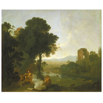 Oil painting - Classical Landscape with Venus and Adonis