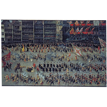 Oil painting - The Ommegang in Brussels on 31 May 1615: The Senior Guilds