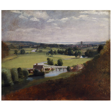 Oil painting - The Valley of the Stour with Dedham in the Distance