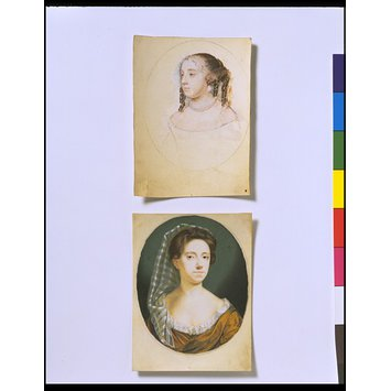 Portrait miniature - A Woman, presumed to be a self-portrait of Susannah-Penelope Rosse