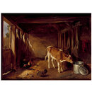 Interior of a Cattle Shed (Oil painting)