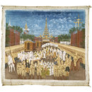 The departure of King Thibaw and Queen Supayalat from Mandalay at the end of the Third Burma War in 1885. (Painting)