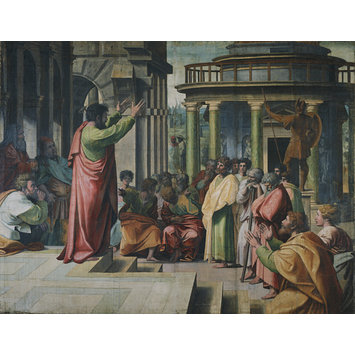 Cartoon for a tapestry - Paul Preaching at Athens (Acts 17: 16-34)