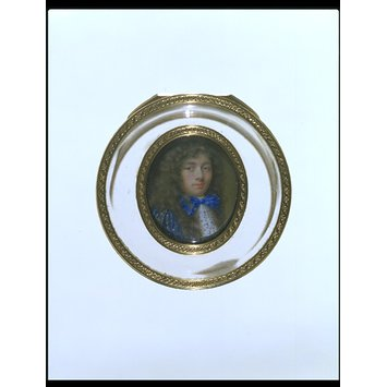 Enamel miniature - Miniature enamel self-portrait of Jean Petitot, the younger