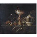 Porringer and Nautilus Cup (Oil painting)