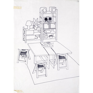 Drawing - Design for a dining room