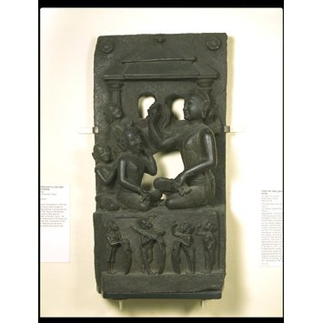 Relief panel - King Narasimha and his spiritual advisor