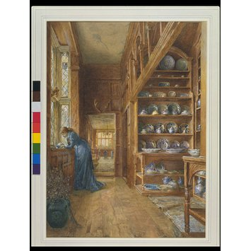 Watercolour - Marigold's: The China Closet, Knole