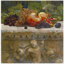 Still-life study of fruit on a marble sarcophagus, used as a preparatory study for <i>Clytie</i> (Oil painting)