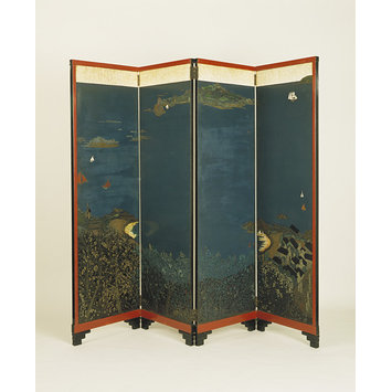 Folding screen - 'Paysage Bretagne - St. Riom'