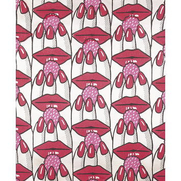 Furnishing fabric - Raspberry Lips