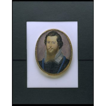Miniature - Portrait of Robert Devereux, 2nd Earl of Essex (1566-1601).