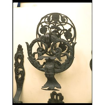 Door knocker and escutcheon