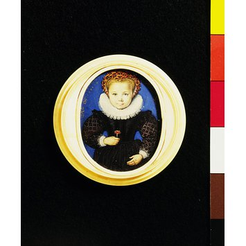 Portrait miniature - An Unknown Girl, aged five