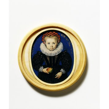 Portrait miniature - An Unknown Girl, aged four