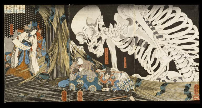 Takiyasha the Witch and the Skeleton Spectre | Utagawa