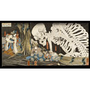 Takiyasha the Witch and the Skeleton Spectre (Triptych)