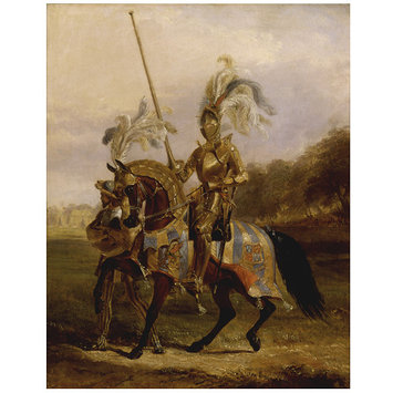 Oil painting - Lord Eglinton and Winton, dressed as Lord of the Tounrament