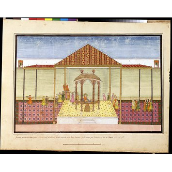 Album page - The Mughal Emperor and his Court