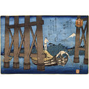 View from under the Shin-Ohashi Bridge (Woodblock print)