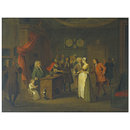 The Affiliation (after William Hogarth) (Oil painting)