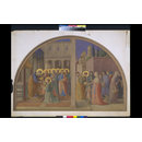 Watercolour, copy after The Ordination of St Stephen and St Stephen Distributing Alms, Fra Angelico in the Niccoline Chapel (Vatican, Rome) (Watercolour)
