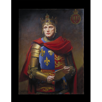 Oil painting - Richard Burton as Henry V