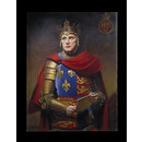 Richard Burton as Henry V (Oil painting)
