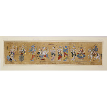 Scroll drawing - Ten incarnations of Vishnu