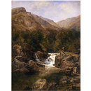 Scene on the Tummel, Perthshire (Oil painting)