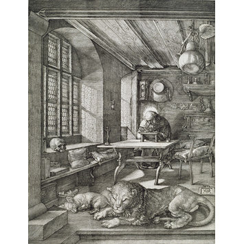 Print - St Jerome in his Study